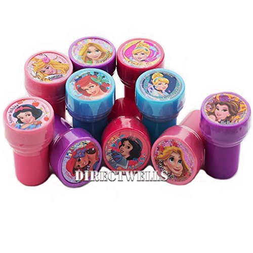 Princess Disney 10 Assorted Self Inking Stampers Party -