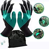 Garden Genie Gloves with Fingertips Claws Quick (Double Claw)by Awefrank --Safe for Rose Pruning -Best Gardening Tool -Best Gift for Gardeners-Great for Digging Weeding Seeding poking