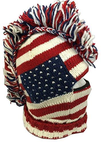 Unisex Punk American Flag Snowboard Mohawk Hat 0e248a9d3f2