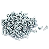 uxcellM3x8mm Phillips Round Head Self Tapping Screws Fastener 100pcs