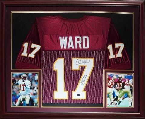 Charlie Ward Autographed FSU Florida State Seminoles (Garnet #17) Deluxe Framed Jersey w/