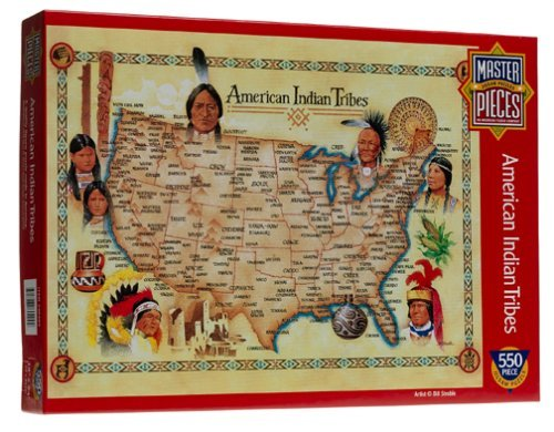 American Indian Tribes 550 piece jigsaw puzzle by Quality puzzles by Master Pieces