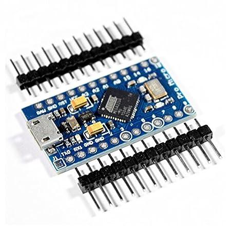 KOOKYE Pro Micro ATmega32U4 5V//16MHz Module Board With 2 Row Pin Header for Arduino Leonardo Replace ATmega328 Arduino Pro Mini