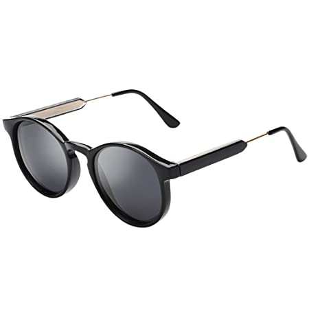 15bddaa6c39 Sunglasses Polarized Light Sunglasses Retro Fashion Small Frame Round  Protect your eyes (Color    1)  Amazon.co.uk  Kitchen   Home