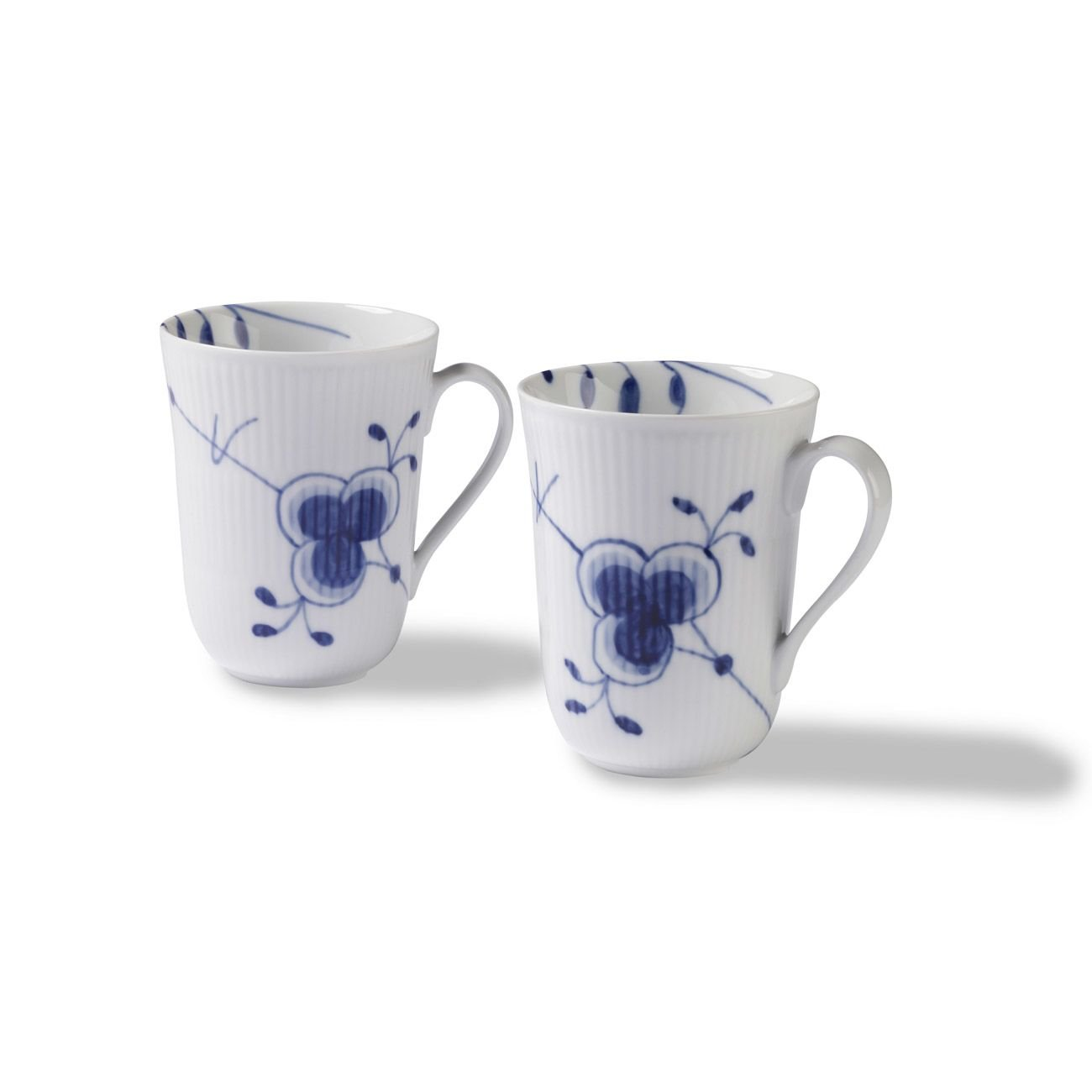 Royal Copenhagen Blue Fluted Mega Mug, Set Of 2