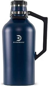 NEW DrinkTanks 128 oz Vacuum Insulated Stainless Steel Beer Growler