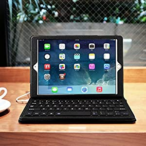 iPad Pro 12.9 Keyboard Case, Pasonomi Wireless Bluetooth Folio Smart Keyboard Case Cover for Apple iPad Pro 12.9 (1st Gen 2015)/iPad Pro 12.9 (2nd Gen 2017), Black