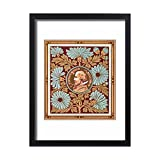 Framed 24x18 Print of William Shakespeare on a greetings card (11735660)