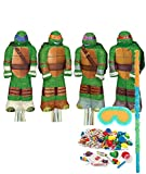 BirthdayExpress Teenage Mutant Ninja Turtles Party Supplies - Shaped Pinata Kit