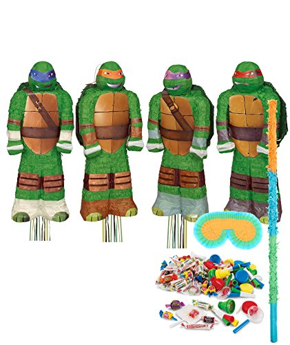 BirthdayExpress Teenage Mutant Ninja Turtles Party Supplies  Shaped Pinata Kit