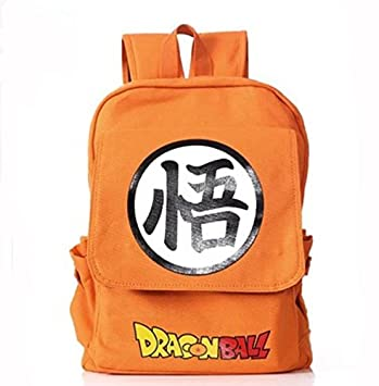 Dragon Ball Z mochila mochila lienzo mochila escolar Dragon Ball Naranja: Amazon.es: Electrónica