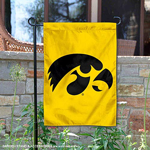 Iowa Hawkeyes Garden Flag and Yard Banner (Team Border Wall Iowa Hawkeyes)