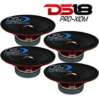 4) DS18 PRO-X10M 10 Midrange Car Speaker 2,400W Max 8-ohm (Set of 4) FAST SHIPPING!!