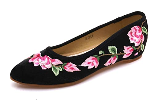 Bordado Zapatos/Alpargatas/Merceditas/Zapatos Bordados, Zapatos de Novia, Zapatos de Novia de Estilo Chino, Tacones Oxford.