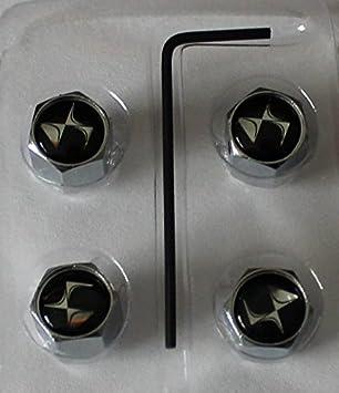 4 x DS tapones de válvula Cromo Citroen logo Embleme Badge DS3 DS1 DS5: Amazon.es: Coche y moto