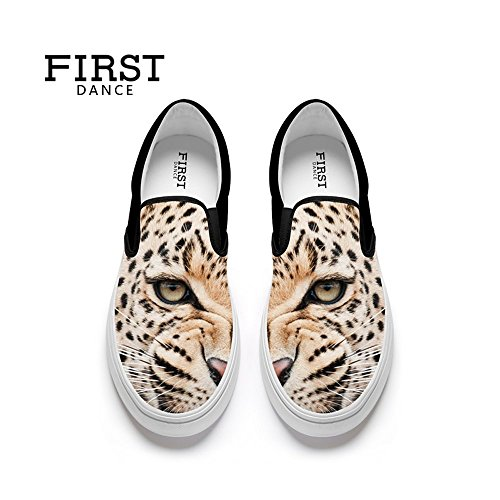 First Dance Funny Animal Prints Design Donna Mocassini Casual Appartamenti Moda Personalizzata Scarpe Di Tela Animali 12