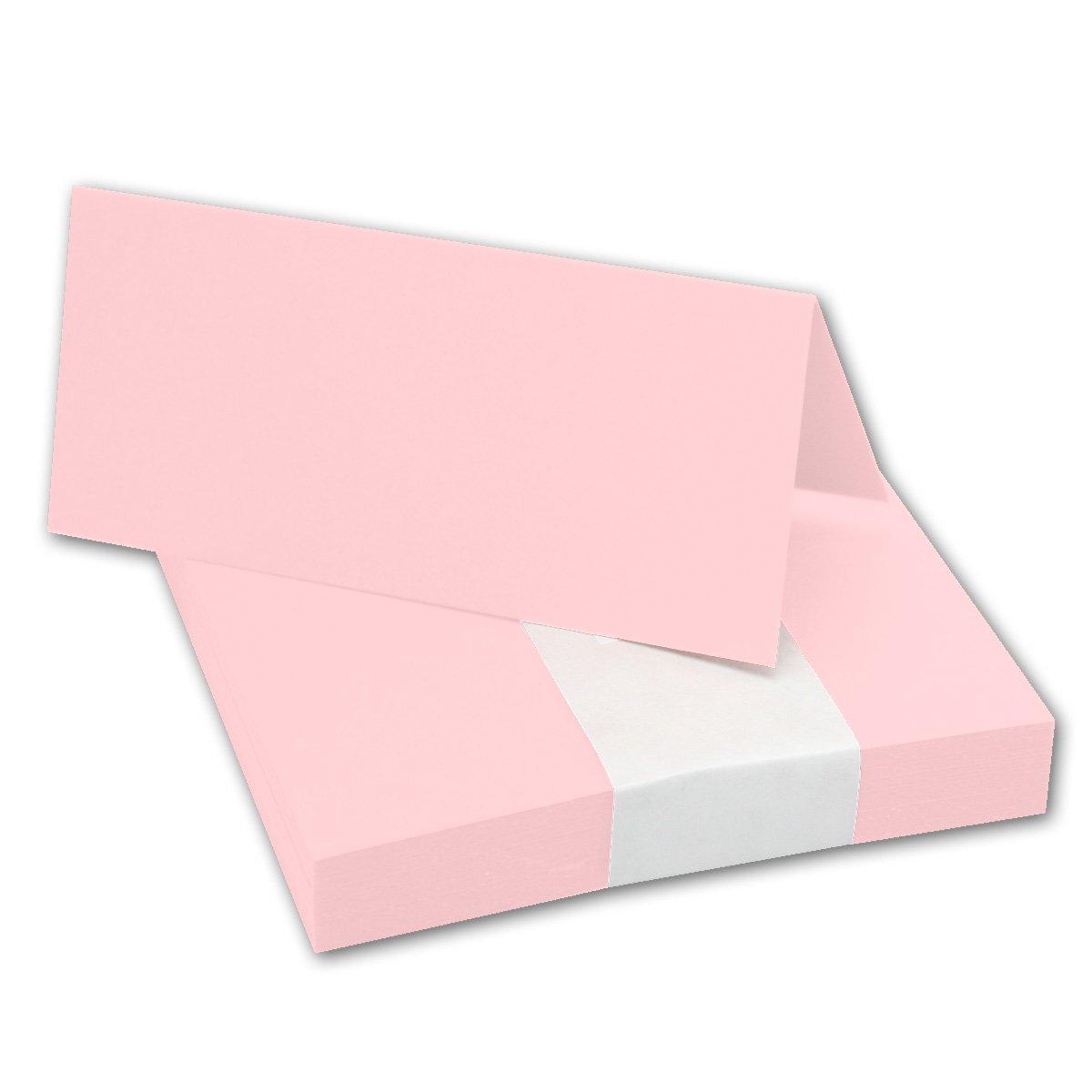 Segnaposto in rosa//Dimensioni: 100x 90mm (piegati 100x 45mm)//240G/m²//Molto e qualità stabile//pesante in della Serie colori vivaci di Neuser. 50 Tischkarten rosa