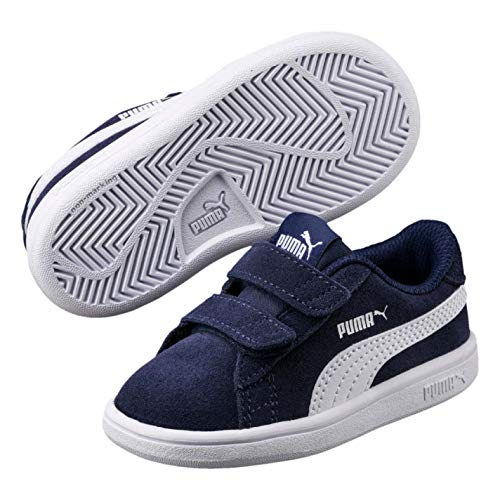 Smash Weiß V2 Marine Puma Unisex kinder Sd V Sneaker Ps aEHPZwq