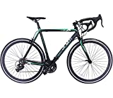 Road Bike Aluminum Commuter Bike Shimano 21 Speed 700c x 25c Racing Bicyle Sport Life Black 58cm