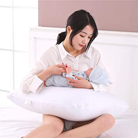 Premium Quality Poly-cotton Back /& Neck Support V Shaped Pillow /& Pillow case