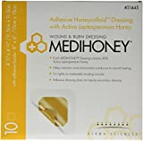 Derma Sciences 31445 Medihoney Honeycolloid Dressing, Adhesive, 4.5'' Width x 4.5'' Length (Pack of 10)