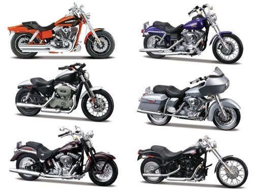 Harley Davidson Motorcycles, Series 28 Collection, 6 Piece Set