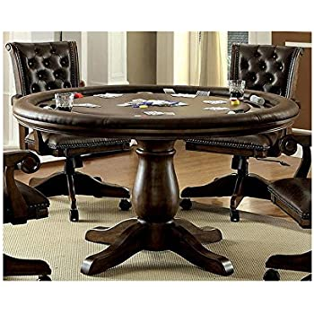 Amazon.com: Rustic Solid Wood Game Table With Hideaway Top - Poker ...
