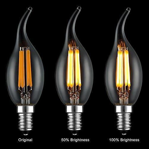 keymit new c35t e12 base 4w 400lm 2700k dimmable candelabra led bulb ul e492997 outdoor. Black Bedroom Furniture Sets. Home Design Ideas