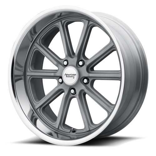 American Racing VN507 Rodder 17×8 5×4.75″ +0mm Vintage Silver Wheel Rim