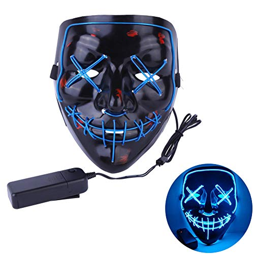 Balai Halloween Scary Mask LED Light up Purge Mask for Festival Adult Cosplay Halloween Costume