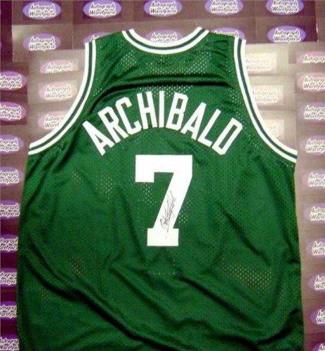Basketball Archibald Autographed (Nate Archibald autographed Jersey (Boston Celtics Basketball Hall of Fame) PSA DNA Authentication Hologram AW Certificate)