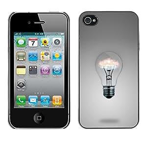 YiPhone /// Prima de resorte delgada de la cubierta del caso de Shell Armor - Light bulb Ideas - Apple iPhone 4 / 4S
