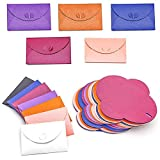 HansGo Mini Gift Card Envelope, 100PCS Cute Post Card Holders Heart Clasp Kraft Paper Shining Colorful Envelopes