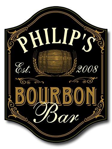 - Bourbon Bar Custom Wooden Novelty Sign
