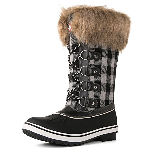 1740white Kingshow Black Women's Boots Waterproof Winter Globalwin gxRwOpqz4