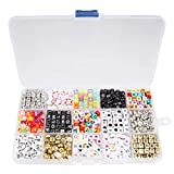Best Jewelry Boxes With Love Charms - Beauty7 1100pcs Mixed Assorted Colorful Acrylic Alphabet