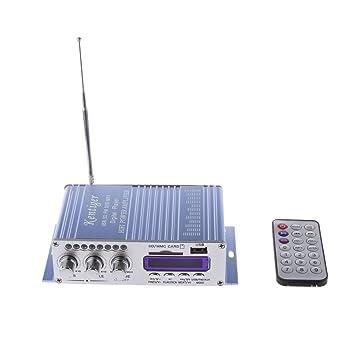 Hy502 Fm Mp3 Altavoz Reproductor de Audio Estéreo de Automóvil Amplificador Hi-Fi: Amazon.es: Electrónica