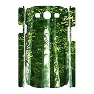 LZHCASE Cover Case Bamboo 3D Diy For Samsung Galaxy S3 I9300 [Pattern-1]