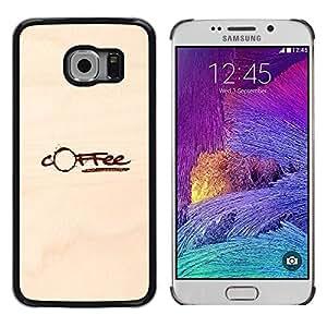 Cubierta protectora del caso de Shell Plástico || Samsung Galaxy S6 EDGE SM-G925 || Coffee Stain Brown Paper Caffeine @XPTECH