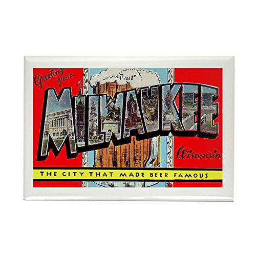 CafePress - Milwaukee Wisconsin Greetings Rectangle Magnet - Rectangle Magnet, 2