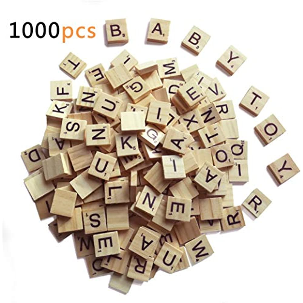 SCRABBLE WOOD TILES 200Pieces Full Sets Letters Wooden Replacement Pick