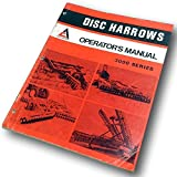 Allis Chalmers 33100 3200 3300 3400 Series Disc Harrows Operators Owners Manual