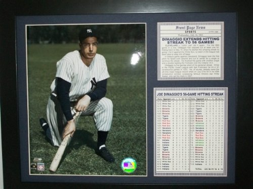 Joe Dimaggio Memorabilia - 11x14 1941 New York Yankees Joe Dimaggio 56 Hitting Streak 8X10 PHOTO