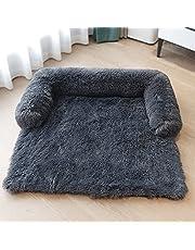 KingMSPG Zachte pluche hondenmat, bank, comfortabele hondenkussenmat, hondenmatras, afneembaar, wasbaar, hondendeken, meubelbekleding voor honden en katten