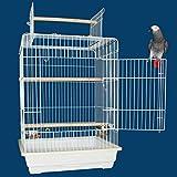 Kailua Kanopy Convertible Top Bird Cage - 23''W x 19''D x 33''H - Black
