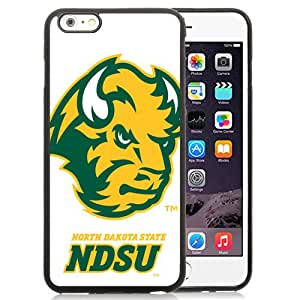 NEW Personalized Customized Iphone 6 Plus Case with NCAA Big Sky Conference Football North Dakota 1 Protective Cell Phone TPU Cover Case for Iphone 6 Plus Generation 5.5 Inch Black