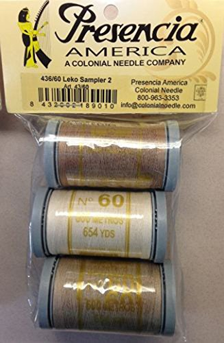 (Presencia Cotton Thread Doug Leko Neutrals Sampler #2 60wt / 600M / 3)