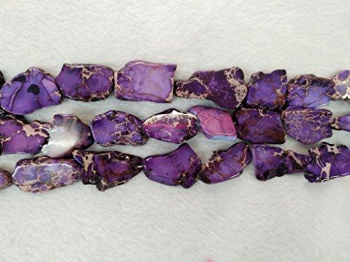 - realgem- Imperial Jasper beads,sediment jasper gemstone jewelry nugget pendant beads,one string 16