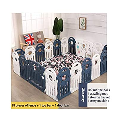 Mmeng Children's Play Fence Baby Fence Home Safety Fence Baby Indoor Crawling Mat Toddler Baby Fence Household Playpen Tent Children's Safety Playards Crawling Mat Infant Plastic: Home & Kitchen