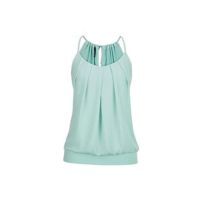 a3b473905fe5da Fashion Women Casual Blouse Sleeveless V-Neck Irregular Tank Top T-Shirt